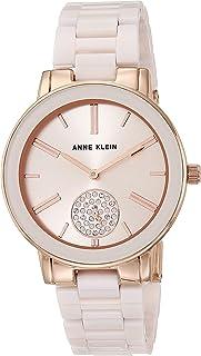 Anne Klein 安妮克莱因 女式施华洛世奇水晶点缀陶瓷手链手表,AK/3502