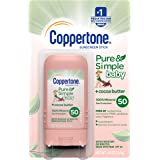 Coppertone Pure & Simple Baby SPF 50 Sunscreen Stick, Water…