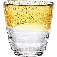 东洋佐佐木玻璃 烧酒杯 日式温酒杯 金色 300毫升 日本制造 42130TS-G-WGAB