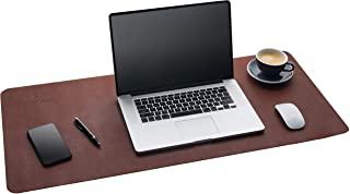 Gallaway 皮革桌垫 - 深棕色 (91.44 x 43.18) 防滑桌子保护优质 PU 皮