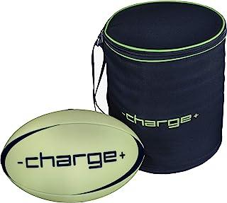 黑暗橄榄球中发光的 Chargeball 大学尺寸和重量,适合长时间比赛、夜间游戏、训练和派对发光,包括高级 LED 手提袋,充电仅需 20 秒!