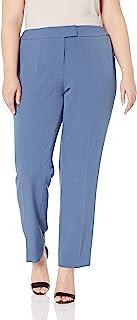 Anne Klein 女士加大绉纱修身长裤