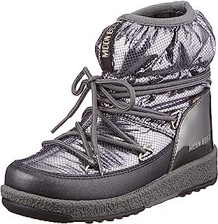Moon Boot MB Jrgirl 低尼龙高级防水布,女孩雪地靴