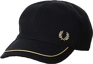 FRED PERRY 帽子 BLOCKED PIQUE CAP HW8640 157_BLACK/CHAMPAGNE UK 1SZ (FREE サイズ)