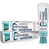 Sensodyne ProNamel 清新呼吸珐琅牙膏,用于敏感牙齿,以重新硬化和增强珐琅质,清新波状-4盎司/113克…