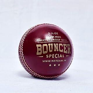NX Bouncer 特殊模型红色板球皮革球 - 2 件装