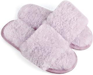 Allegra K 女式舒适毛绒防滑卷发毛绒拖鞋