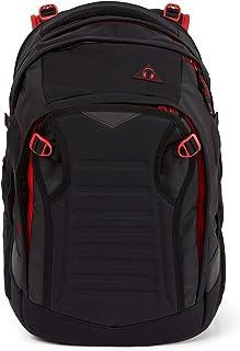 Satch Match,符合人体工程学的书包,可扩展至35升,额外的前袋 Black Red one size