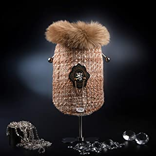 Trilly Tutti Brilli Charles 大衣由格子制成,带有人造毛皮和保暖装饰,米色,XS - 1 产品