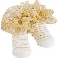 Mud Pie 袜子,金色条纹