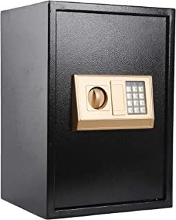 KYODOLED 数字*-电子钢保险箱,带键盘,锁柜,大保险柜,适用于家庭金钱,办公室,酒店商务,个人*,重达 1.8 立方英尺,黑色