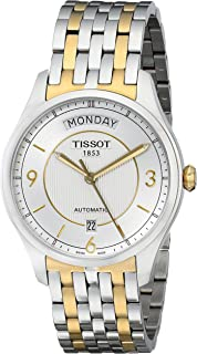 Tissot Men's T0384302203700 T-One Silver Dial Two Tone Watch