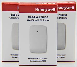 3 Pack of Honeywell 5853 无线 Glassbreak 探测器 W/安装磁带