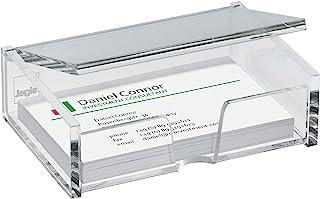 SIGEL VA112 亚克力名片盒,*多可容纳 80 张卡片(*大 9 x 5.8 厘米),透明