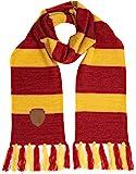 哈利波特格兰芬多针织围巾,带补丁徽标