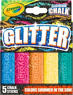 Crayola 绘儿乐 Glitter 人行道粉笔,5支装