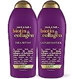 OGX 厚实&全+生物素&胶原蛋白洗发水和护发素,25盎司(720g)(2件装)