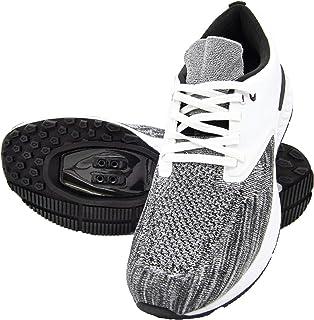 Tommaso Capri Knit 女士可步行 SPD 兼容 室内自行车鞋和捆绑 白色 灰色 黑色 粉色