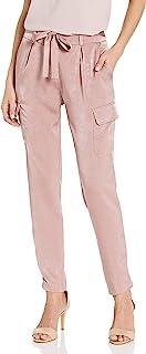 James Jeans 女士 Shelby 修身休闲束腰玫瑰色工装裤