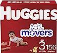 婴儿尿布 3 号, 156 克拉, Huggies Little Movers