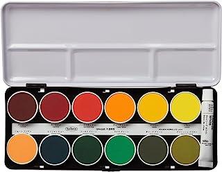 Holbein 荷尔拜因 固体水彩颜料 不透明小块固体颜料 24色套装 C032 直径30毫米