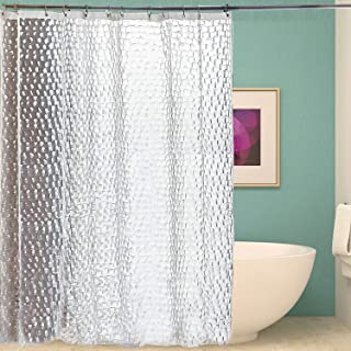 TenkBuff 浴帘衬里,浴室淋浴间防水浴帘,水立方(182.88 x 182.88 厘米)