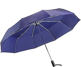 PEARL METAL 珍珠金属 大号 折叠伞 一键自动开合 130厘米 特氟隆加工 防水加工 结实 10根伞骨 藏青色 N-7545