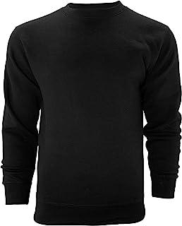 Venley Weighted 男士黑色圆领羊毛衫
