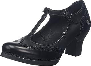 Art 女式 1067 城市领袖黑/哈伦闭趾高跟鞋