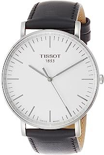 Tissot Everytime 大号 - T1096101603100T1096101603100 Analog 皮革 黑色 T1096101603100 watches