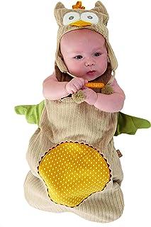 Baby Aspen 猫头鹰造型睡袋(带帽子),0-6 个月 米黄色 0-6 个月