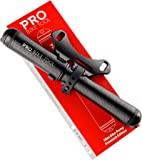 PRO BIKE TOOL 迷你自行车泵高级版 - 适合 Presta 和 Schrader 阀门 - 高压PSI…