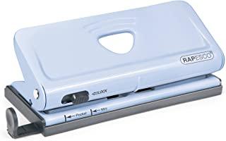 Rapesco 1323 可调式6孔订书机/日记本打孔机(粉蓝色)