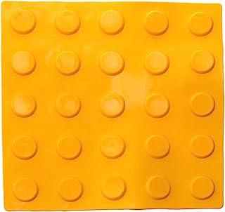PrimeMatik - Podotactile Tile Touch Blind Paving 25 x 25 cm 黄色制块圆圈 10 件装 (BT095)
