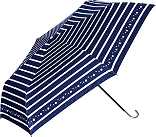 [estaaa] Esta 晴雨两用伞 BEAUTY SHIELD UV 遮热・遮光 迷你伞 横条纹印花 女士