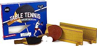 Professor Puzzle 木制乒乓球 – 迷你桌面网球游戏 – 小型木制乒乓球游戏带 26 英寸木质网