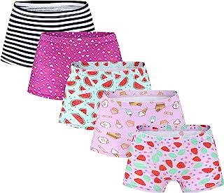 MyFav 女童平角内裤,柔软棉质内衣,儿童内衣 5 件装