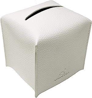 Unit101 方形纸巾盒盖架,现代皮革立方体纸巾架盒,适用于浴室梳妆台、卧室梳妆台、办公桌和汽车 12.7 厘米 x 12.7 厘米 x 12.7 厘米 现代皮革装饰支架