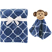 Hudson Baby Plush Blanket and Animal Security Blanket Set Bo…