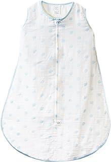 【日本原装进口】 SwaddleDesigns 纱布睡袋 SDM - 401 ドット パステル ブルー 6-12ヶ月