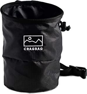 Cragbag 攀岩粉笔袋采用轻质尼龙材料制成,皮带、弹性刷架、登山扣环、防漏封口系统,以及用于手机和钥匙的大拉链口袋
