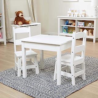 Melissa & Doug 家具木制桌椅套装 - 白色