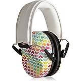 Muted Designer 婴儿和儿童听力保护 - 可调节儿童耳罩 从幼儿到青少年的可调节 彩虹心形 均码