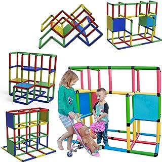 Funphix 经典 316 件建筑玩具套装 - 室内及室外的搭建游戏结构 - 趣味和教育性学习玩具,适合 2 至 12 岁儿童