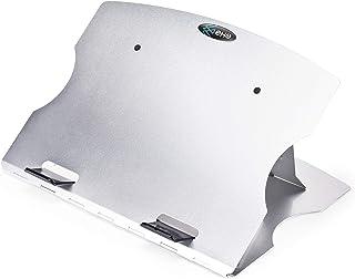 EHO 笔记本电脑支架,符合人体工程学的铝制便携式笔记本电脑支架,笔记本电脑散热器支架,*多可兼容 17 英寸,可调节笔记本电脑竖板,6 步高度角度