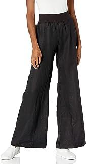 Three Dots 女士经典亚麻长裤