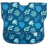 Bumkins 中款围兜/短袖幼儿围兜/罩衫 适合1-3岁儿童,防水,耐水洗,耐污渍和耐异味 蓝色主题