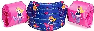 SWIM SAFE Bestway ABC Swim Pal 幼儿救生背心和护目镜套装,粉色