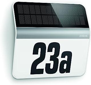 Steinel LED 家庭门牌号码灯 XSolar LH-N 灰色 不锈钢白
