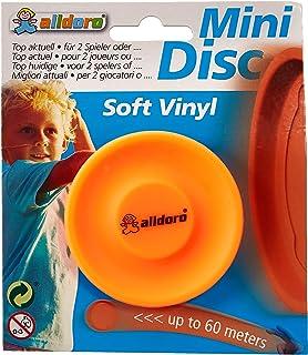 alldoro 63055 3 件套 迷你光盘投掷盘,碟直径约为6.5 厘米柔软硅胶制成,袖珍圆盘小,投掷游戏范围可达 60 米,范围户外运动,适合儿童,成人和狗,橙色